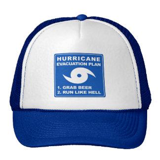 Plan de evacuación del huracán gorra
