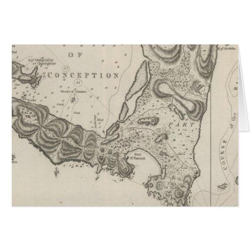 Plan de la bahía del concepto en chile felicitación