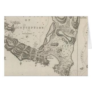 Plan de la bahía del concepto en chile tarjeta de felicitación
