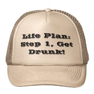 Plan de la vida: ¡El paso 1, se emborracha! Gorro