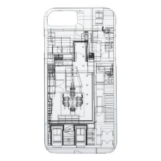 plan de piso arquitectónico del wireframe funda iPhone 7