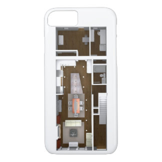 Plan de piso rendido arquitectónico funda iPhone 7