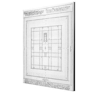 Plan del templo de Solomon, Jerusalén, del 'En Impresión En Lienzo