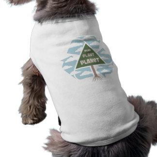 Plan-Planta-Planeta Camiseta Sin Mangas Para Perro