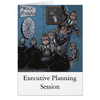 Planeamiento ejecutivo tarjeta de felicitación