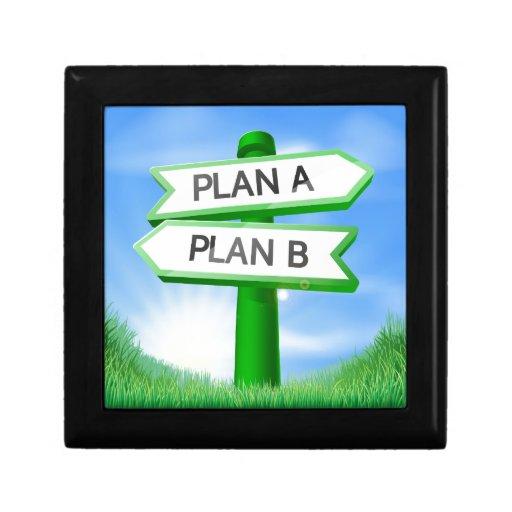 Planee A o planee el concepto de la muestra de B Caja De Joyas
