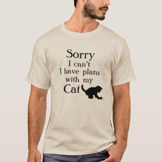 Planes tristes con el gato camiseta