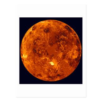 Planeta anaranjado postal