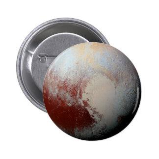 Planeta enano Plutón por la foto 2015 de la NASA Chapa Redonda 5 Cm