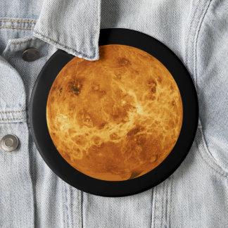 Planeta Venus del botón del jumbo del espacio