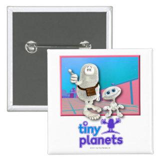 Planetas minúsculos - planeta de la materia chapa cuadrada 5 cm