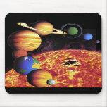 Planetas Mousepad de la Sistema Solar Tapetes De Ratón
