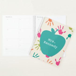 Planificador colorido del profesor de Apple