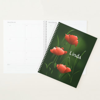 Planificador de encargo floral de las amapolas