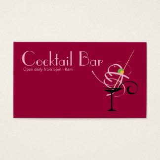 Planificador de eventos del club nocturno de la tarjeta de negocios