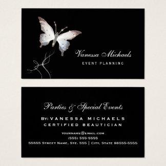 Planificador de eventos elegante de la mariposa tarjeta de negocios