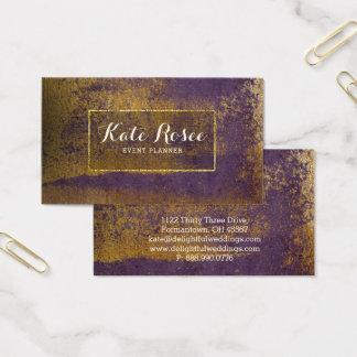 Planificador de eventos profesional del oro tarjeta de visita