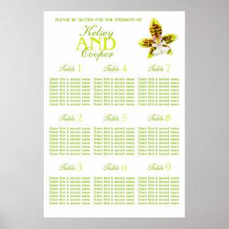 Planificador de la tabla del asiento del boda del póster