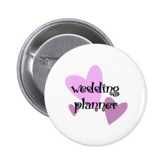 Planificador del boda chapa redonda de 5 cm