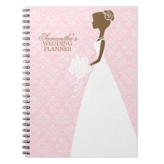 Planificador del boda de la silueta de la novia cuadernos
