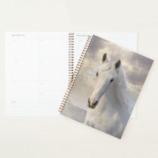 Planificador del espiral del caballo blanco