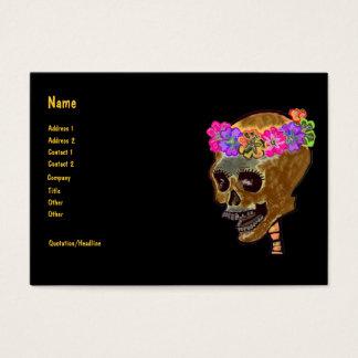 Planificador del fiesta del cráneo de Halloween Tarjeta De Negocios
