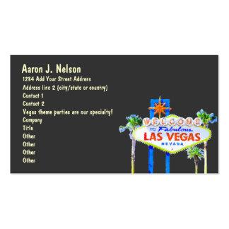Planificador del fiesta del tema del casino de la  tarjetas de visita