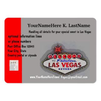 Planificador del viaje de Las Vegas Tarjetas De Visita Grandes