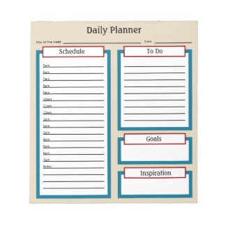 Planificador diario bloc de notas