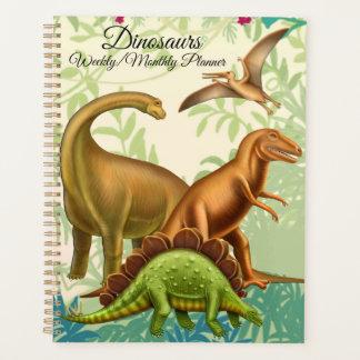 Planificador mensual semanal de los dinosaurios