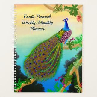 Planificador mensual semanal del pavo real indio