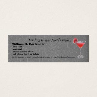 Planificador profesional del fiesta en cocodrilo tarjeta de visita pequeña