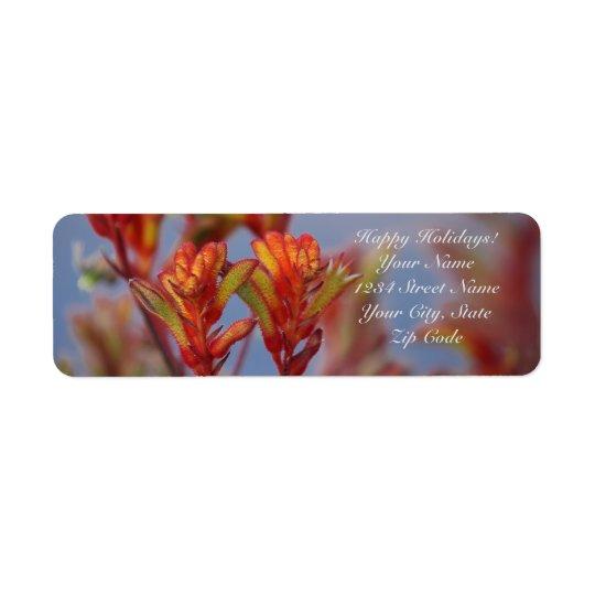 Planta de desierto roja y verde etiqueta de remitente