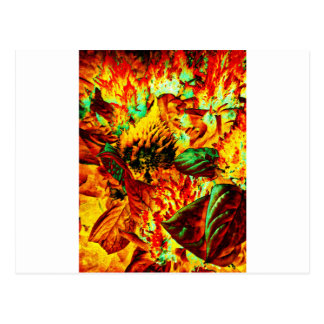 planta en el fuego postal