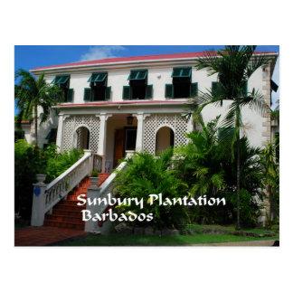 Plantación de Sunbury en Barbados Postal