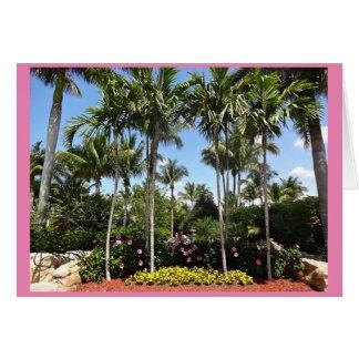 Plantación tropical Bonita Springs la Florida del Tarjeta De Felicitación