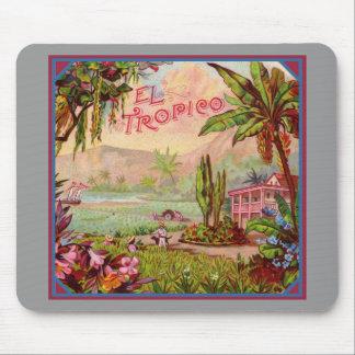 Plantación tropical del vintage alfombrilla de ratón