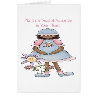 Plante la semilla de la adopción en su corazón felicitaciones