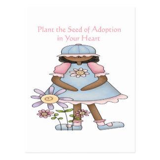 Plante la semilla de la adopción en su corazón postales