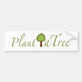 Plante un árbol pegatina para coche
