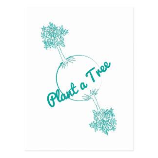 Plante un árbol postal