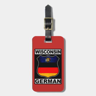 Plantilla americana alemana de la etiqueta del