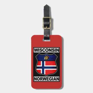 Plantilla americana noruega de la etiqueta del