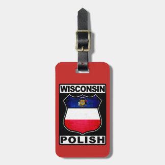 Plantilla americana polaca de la etiqueta del