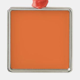 Plantilla anaranjada del espacio en blanco de la adorno cuadrado plateado