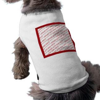 Plantilla arreglada rojo - añada una foto camisas de mascota
