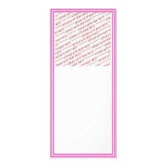 Plantilla arreglada rosa de la frontera tarjeta publicitaria