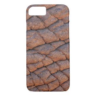 Plantilla arrugada de la textura de la piel del funda iPhone 7