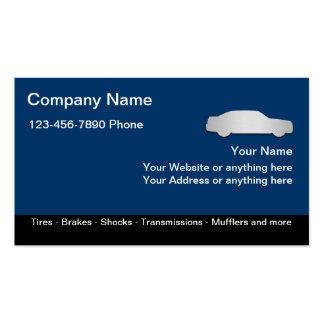Plantilla automotriz de las tarjetas de visita