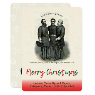 Plantilla automotriz del navidad del confederado invitación 12,7 x 17,8 cm